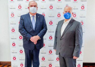 Presidente dos Amigos do HC, Pedro de Paula Filho, e presidente do Conselho Suoperior, Luiz Carlos Borges da Silveira